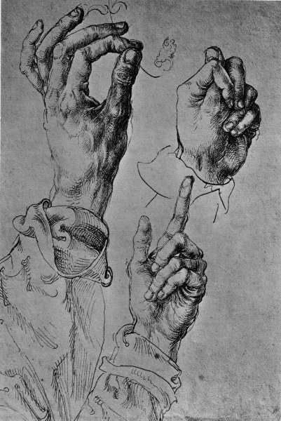 Albrecht Dürer, A Study of Three Hands (c.1490).