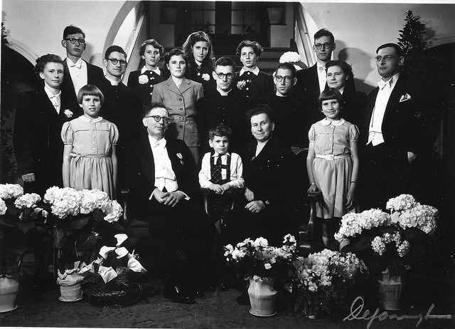 Large families, like this one, grow less common as societies industrialise. Yves Hanoulle on Flickr