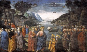 Domenico Ghirlandaio, Commissioning of the Twelve Apostles (1481), from the Sistine Chapel.