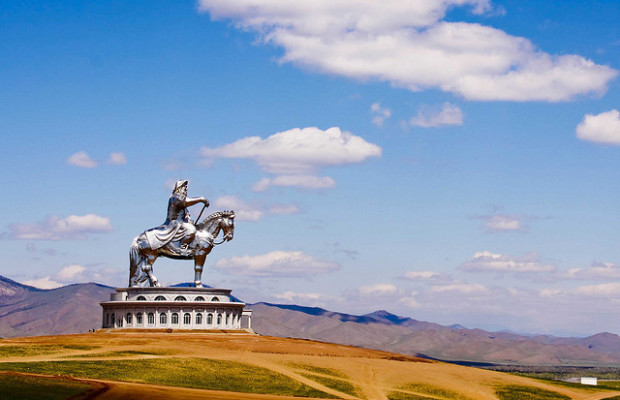 Statue of Genghis Khan near Ulaanbataar.