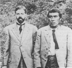 Alfred L. Kroeber (left) with Ishi, the last member of California's Yahi people, in 1911. Wikimedia Commons