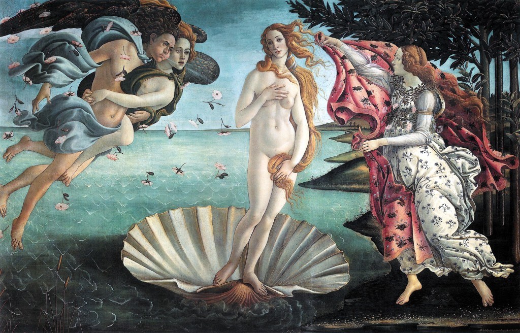"Boticelli's ""Birth of Venus"" c. 1486."