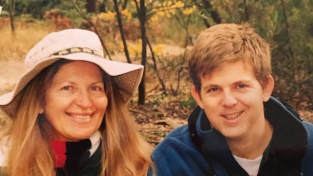 Mum and me, somewhere in Kruger National Park in about 2001.